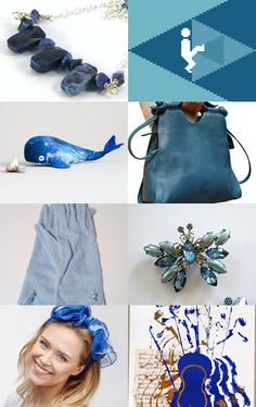 Bold in blue by Valerie Brown on Etsy--Pinned with TreasuryPin.com
