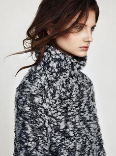 marled thick thin yarn-