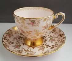 vintage Tuscan fine English chintz tea cup and saucer