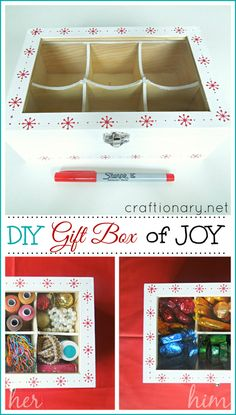 DIY Handmade Gift Box using sharpie... Makes perfect gift for teachers, kids and friends - Craftionary.net