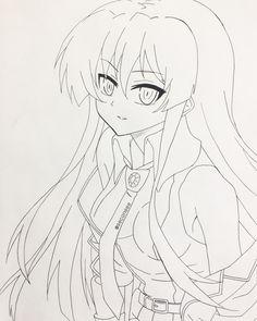 Akame selfmade drawing [Anime: Akame ga kill]✨ Instagram: @seconeee