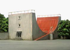 skate ramp tennis court