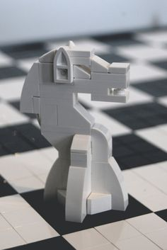 https://flic.kr/p/7YpPBb | Lego Chess White Knight