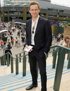 Tom Hiddleston - Wimbledon 2012