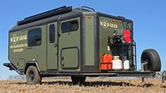 ADAK Adventure Trailer- for an upcycled camper, great army color, and must beef up the tires! Bug Out Trailer, Off Road Trailer, Box Trailer, Cargo Trailers, Camper Trailers, Travel Trailers, Camping Ideas, Camping Essentials, Camping Hacks