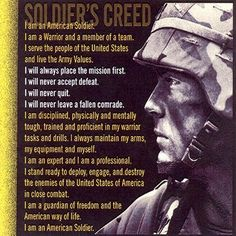 """I am an American Soldier! I fight where I am told! I win where I fight!""  ~ quote from: George Smith Patton, Jr. was a General in the United States Army. Best known for his qualities of tough-minded leadership during World War II."