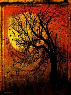 October Moon by Ron Jones - October Moon Digital Art - October Moon Fine Art Prints and Posters for Sale