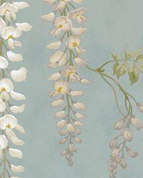 detalj Tapet Seraphina Aqua från Colefax & Fowler