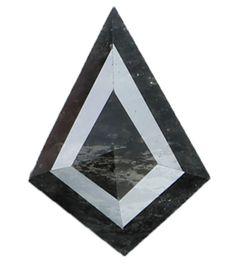 0.56 Ct Natural Loose Diamond Kite Shape Salt And Pepper 7.60X5.50X2.30 MM L9209