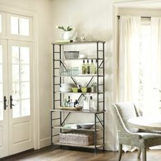 Sonoma Bookcase- a bookcase with open sides and back is one of the most versatile pieces of furniture you can own. Use it as a bar, a library, a front-door drop zone, or a dining room buffet. (BH May 2013)