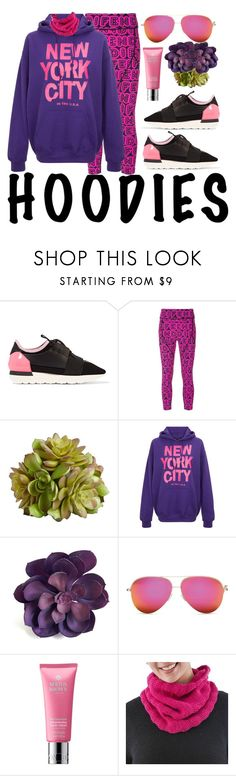 """""""In My Hood: Cozy Hoodies"""" by michele-nyc ❤ liked on Polyvore featuring Balenciaga, Fendi, Pier 1 Imports, Victoria Beckham, Molton Brown, NOVICA and Hoodies"""
