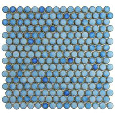 SomerTile 12.25x12-in Penny 3/4-in Marine Porcelain Mosaic Tile (Pack of 10)   Overstock.com Shopping - Big Discounts on Somertile Wall Tiles
