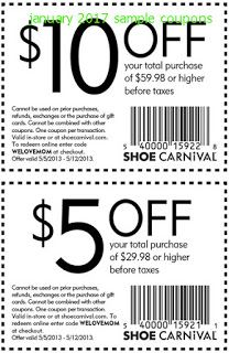 Shoe carnival, Free printable coupons