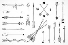 Ethnic Hand Drawn Arrows By Redchocolate On Creative Market