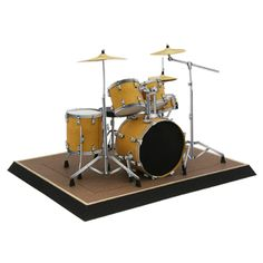 This paper toy is designed by canon papercraft. A drum set is a collection of various types of drums, cymbals and other percussion instruments that are lin Decorative Paper Crafts, Paper Crafts For Kids, Drum Lessons For Kids, Drums Artwork, Free Paper Models, Quilling Paper Craft, Drum Kits, Paper Toys, Paper Decorations