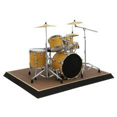 Drum set - Musical instruments - Decorative - Paper Craft - Canon CREATIVE PARK