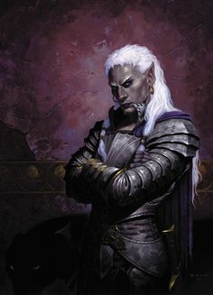 Artwork: chepros by fantasy artist Gerald Brom. See more artwork by this featured artist on the fantasy gallery website. Dark Fantasy, Fantasy Rpg, Fantasy World, Fantasy Weapons, Fantasy Races, Fantasy Warrior, Warrior High, Elf Warrior, Character Portraits