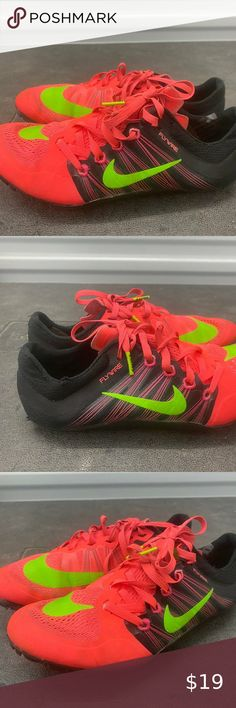 New Nike Zoom 400m Track Spikes Size 11.5 Red Brand New   eBay