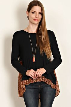 """Hello GORGEOUS!! """"Look"""" at this Amber Trimmed Shirt we just got in stock! FREE SHIPPING!! Order while supplies last at http://wildtyboutique.com/products/amber-trimmed-shirt?utm_campaign=social_autopilot&utm_source=pin&utm_medium=pin"""