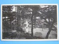 戦前絵葉書 越後 村杉温泉 ラジウム温泉 全景の一部  (E6)_画像1