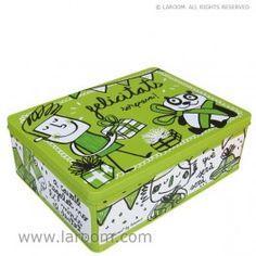 """Laroom - Caja de metal """"felicitats!"""" - Laroom dissenya i fabrica productes per a la llar i la vida - www.laroom.com"""