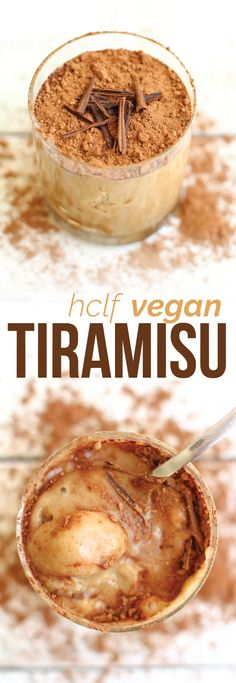 HCLF Vegan Tiramisu 8 pitted medjool dates (you can use ½ cup cane sugar instead) 2 cups non-dairy milk (preferrably vanilla flavored) 2 tsp vanilla extract 3 tbsps corn starch 1 tbsp lemon juice