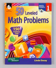 Take a look at this 50 Leveled Math Problems: Grade 1 Paperback & CD by Shell Education on #zulily today!