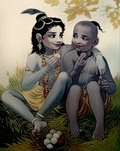 Those who have a friendship like Krishna Sudama they don't have need of and day to celebrate their Friendship. For them everyday is a friendship day, we loyal and respectable to your friends like Krishna who never do comparison between Arjuna who was a Pr Krishna Sudama, Krishna Leela, Cute Krishna, Radha Krishna Photo, Hanuman, Lord Krishna Images, Radha Krishna Pictures, Krishna Photos, Lord Krishna Wallpapers