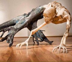 Morbid sculptures by Javier Pérez.