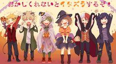 Kaminari & Bakugou & Midoriya & Uraraka & Todoroki & Iida