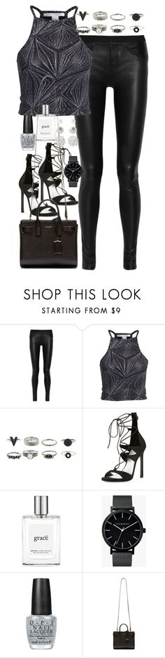 """Outfit for New Year's Eve"" by ferned ❤ liked on Polyvore featuring Helmut Lang, NLY Trend, Stuart Weitzman, philosophy, The Horse, OPI, Yves Saint Laurent and Forever 21"