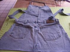 How to Make an Apron from Old Jeans, #stepbystep