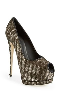 Giuseppe Zanotti 'Sharon' Platform Peep Toe Pump (Women) available at #Nordstrom