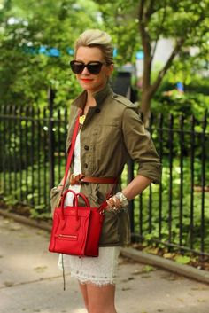 Utility jacket and red details