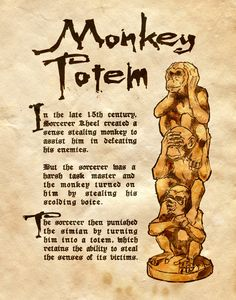 """Book of Shadows:  """"Monkey Totem,"""" by Charmed-BOS, at deviantART."""