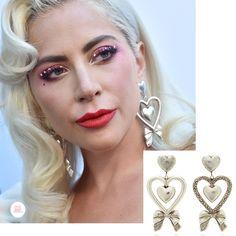 Lady Gaga wearing Rodarte earrings at the Daily Front Row Fashion Awards 2019 Bow Earrings, Circle Earrings, Daily Front Row, Sleek Hairstyles, Pave Ring, Kate Hudson, Oval Diamond, Bubblegum Pink, Lady Gaga