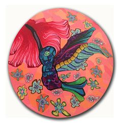 Humming Bird- Polymer clay Silly Milly millefiore cane - large