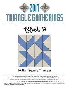 Triangle Gatherings…blocks 39, 40 & 41…
