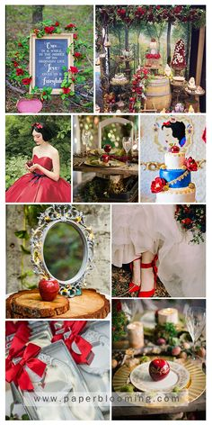 Disney Wedding Favors, Disney Inspired Wedding, Cinderella Quinceanera Themes, Quinceanera Ideas, Enchanted Forest Decorations, Snow White Wedding, Fairytale Party, Snow White Birthday, Disney Bridal Showers