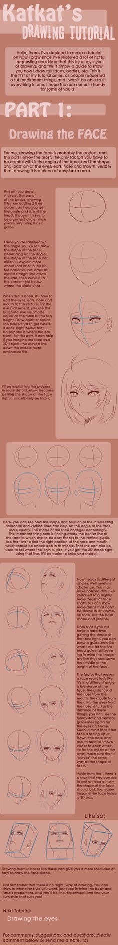Drawing Tutorial - Face by Katkat-Tan.deviantart.com