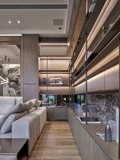 Luxury Interior Design, Interior Design Inspiration, Modern Interior, Interior Architecture, Living Room Modern, Home Living Room, Living Room Designs, Built In Cabinets, Luxury Furniture