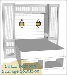 Storage Ideas for Small Bedrooms | small bedroom with a small closet and needs as much additional storage ...