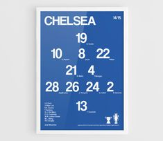 Chelsea FC 2014-2015 Football team squad typographics by NazarDes Champions League  Eden Hazard  Jose Mourinho John Terry  EPL  Stamford Bridge  Didier Drogba  Thibaut Courtois