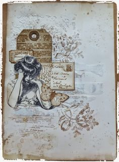 Live The Dream : Jennie Monochrome Mixed Media Art Journal Page
