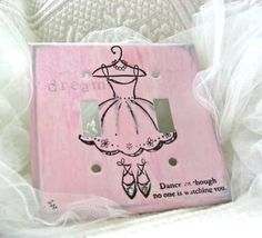 Dream Dancer Original Light Switch Plate by WheretheGrassisGreen