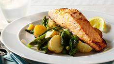 SALMON STEAK - Our Salmon Steak recipe is not only healthy but an incredibly easy recipe to prepare. Perfectly balanced flavours with hints of lemon - this is a great weeknight dinner idea. Salmon Steak Recipes, Dinners, Easy Meals, Pork, Lemon, Fish, Eat, Healthy, Dinner Parties