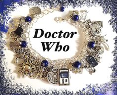 DOCTOR WHO Jewelry Charm Bracelet, Dr Who, Time Lord, Time Travel, Jewelry, Tardis via Etsy