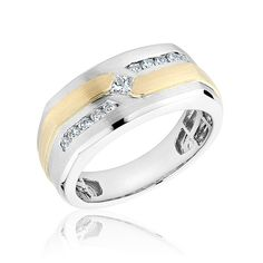 Men's Two-Tone Diamond Ring 1/3ctw