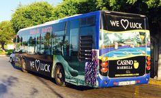 Diseño, estratégia y producción de la nueva campaña en autobuses para el Casino Marbella