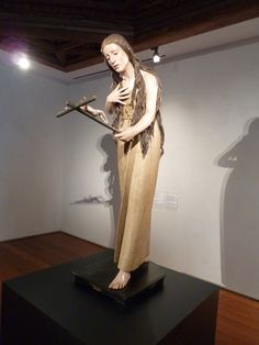 """""""Magdalena penitente"""". Escultura de Pedro de Mena (1628-1688). Se conserva en el Museo de Escultura de Valladolid, en depósito del Museo del Prado de Madrid."""